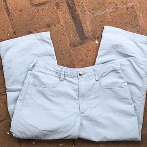 North Face Light Blue Nylon Cropped Pants